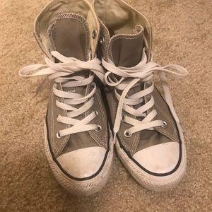 Converse Shoes - Grey high top converse